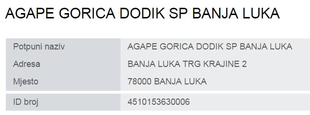 Leutar.net Горица Додик власник екслузивног ресторана АГАПЕ у БЛ (АГАПЕ је трпеза за којом нема разлике између сиротиње и богаташа)