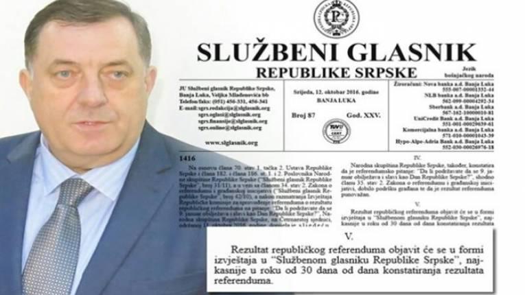 Leutar.net Милорад Додик поништио резултате референдума