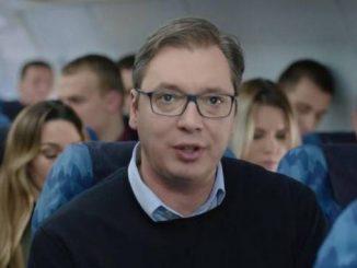 Leutar.net Vučić u spotu spasava avion!