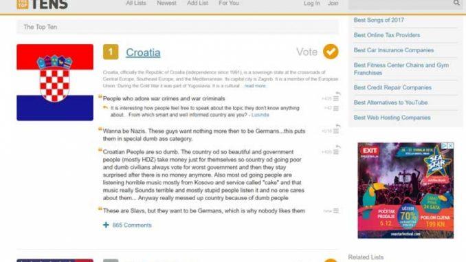 Leutar.net Hrvatska je najgluplja, Srbija peta, a i BiH je tu negdje