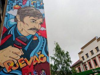 Leutar.net Završeno oslikavanje murala posvećenog Davorinu Popoviću