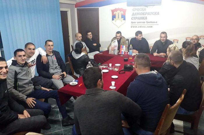 Leutar.net Vojislav Marić izabran za predsednika Aktiva mladih OO SDS Trebinje
