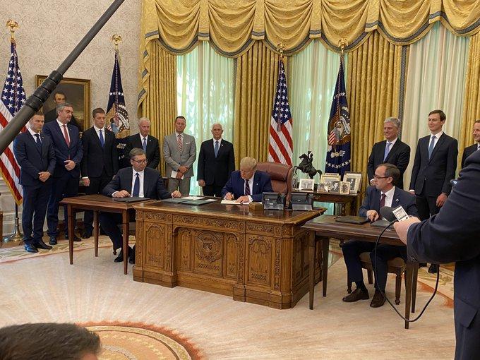 Leutar.net Završeno: Potpisan ekonomski sporazum Beograda i Prištine sa SAD (Foto)