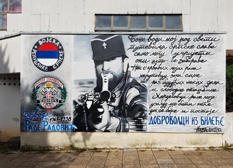 Leutar.net U Bileći naslikan mural posvećen Radu Radoviću