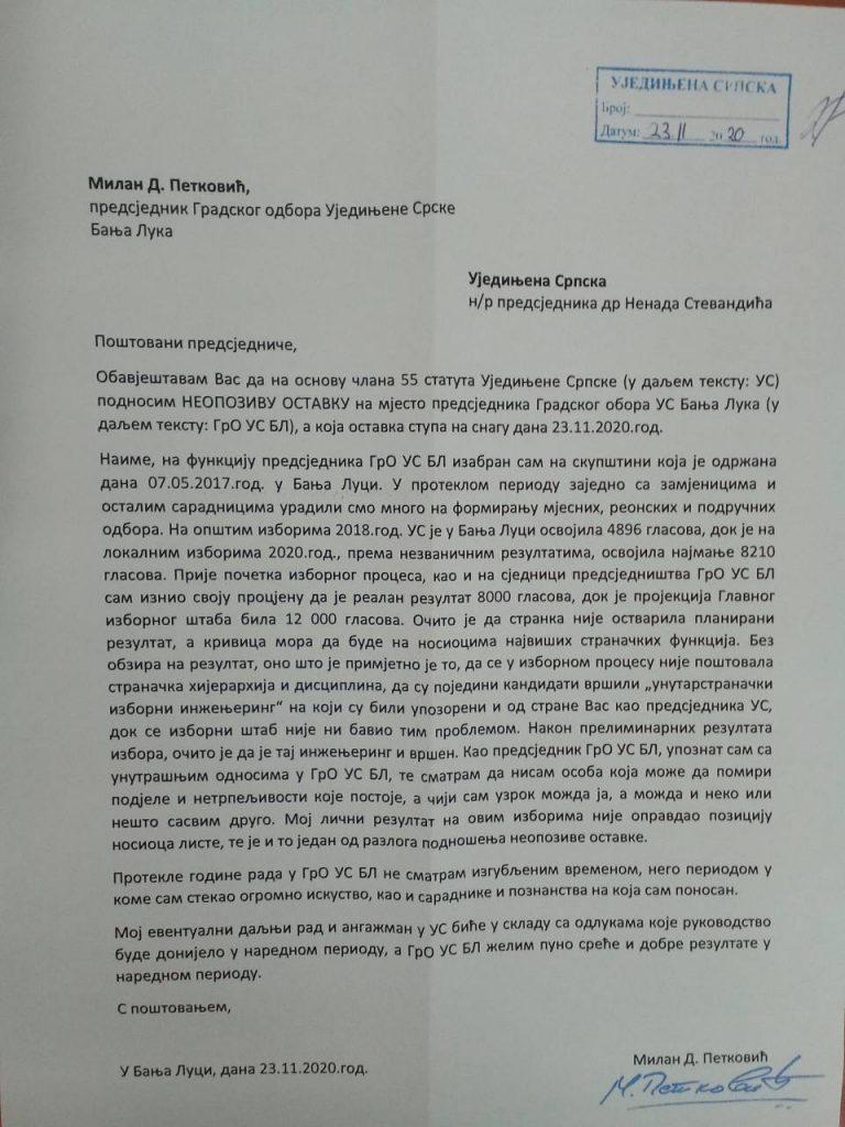 Leutar.net Raskol u Ujedinjenoj Srpskoj Nenada Stevandića