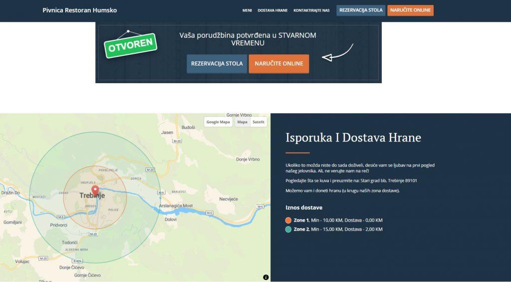 Leutar.net Pivnica i restoran Humsko krenuli sa dostavom hrane i pića