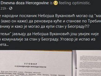 Leutar.net POTVRĐENO - Nebojša Vukanović i njegova majka ne posjeduju stan u Beogradu