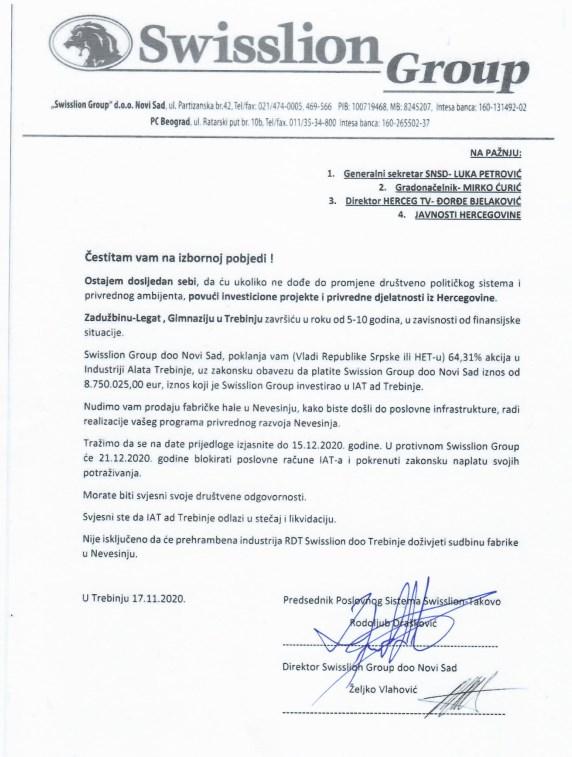 Leutar.net SWISSLION povlači investicije i privredne djelatnosti iz Hercegovine