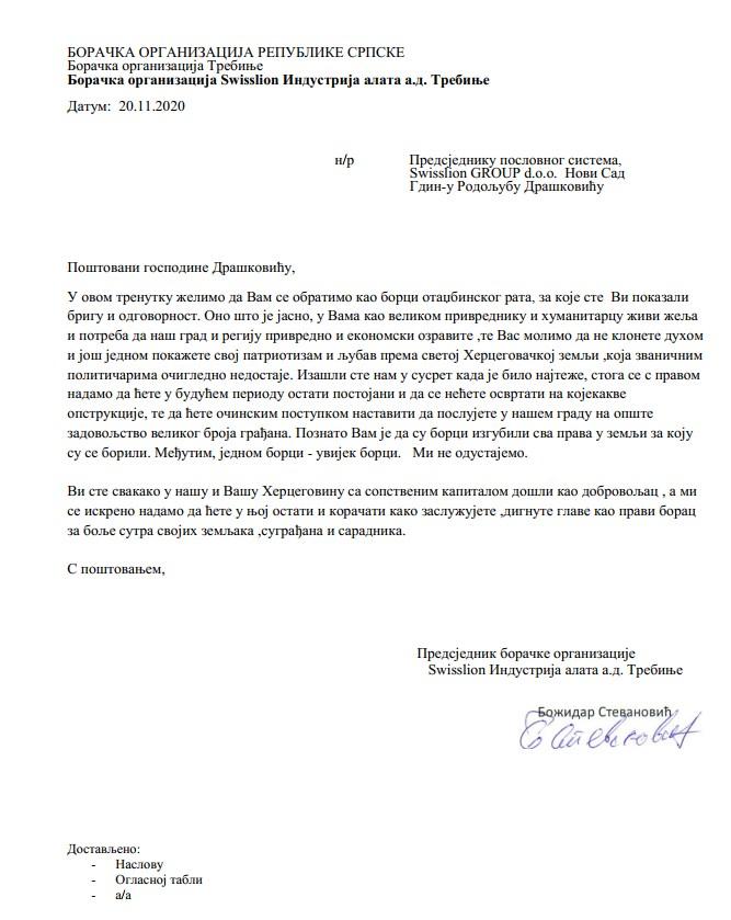 Leutar.net Borci IAT-a uputili pismo Rodoljubu Draškoviću