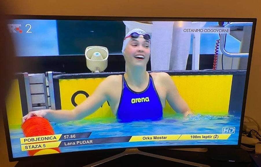 Leutar.net ČUDO OD DJETETA IZ MOSTARA- Sjajna Lana Pudar oborila rekord plivačkog mitinga u Zagrebu