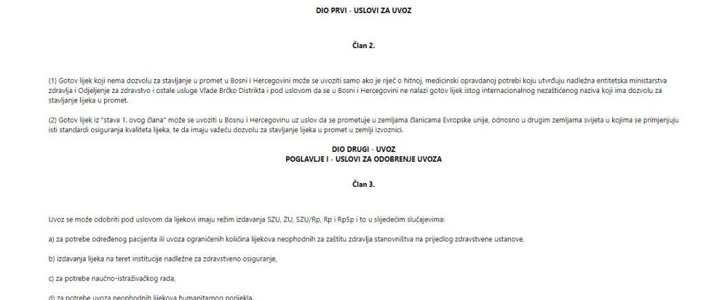 Leutar.net Ko je omogućio da se lijek za oboljele od COVID-19 nelegalno kupuje u sarajevskim apotekama