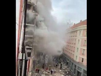 Leutar.net Snažna eksplozija u centru Madrida, uništena zgrada