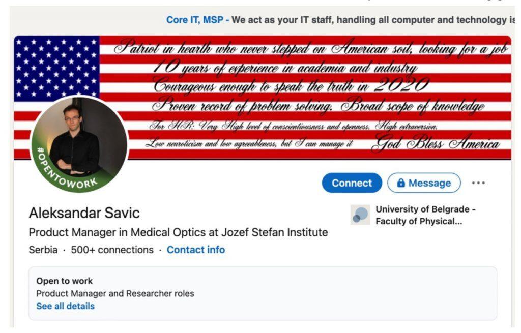 Leutar.net AMERIČKI MEDIJI TVRDE: Srbin glavni inspirator upada u Kapitol!