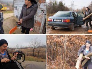 Leutar.net Samohrana majka motorkom zarađuje za život: Kradem drva šta ću, kazne me, narod plati da ne idem u zatvor.