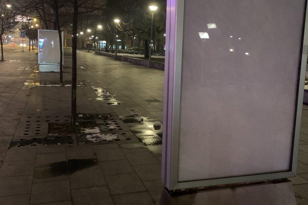 Leutar.net ZA NOĆ NESTALI Ko je i zašto poskidao bilborde u Banjaluci (FOTO)