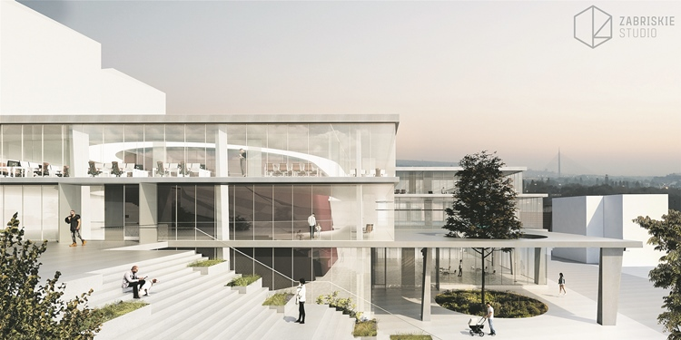 Prva nagrada za idejno rješenje zgrade Ansambla narodnih igara i pjesama Srbije KOLO, Zabriskie studio