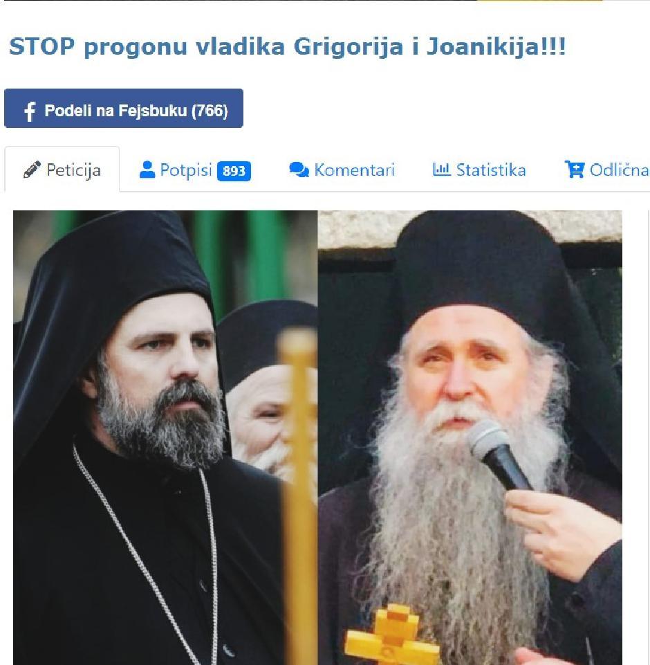 "Leutar.net ""Linč vladika Grigorija i Joanikija mora da prestane"""