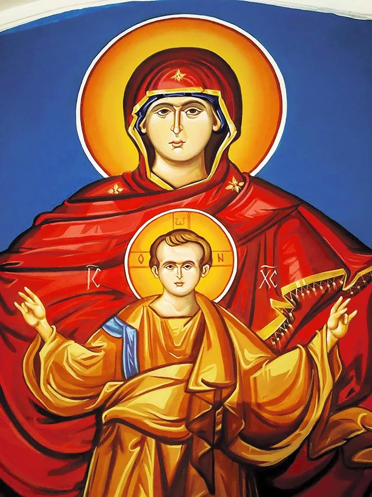 Leutar.net Trebinjka Branka Anđelić oslikava crkvu na Humu