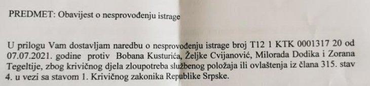 Leutar.net Slučaj leta helikopterom u Teslić: Nema istrage protiv Cvijanović, Dodika, Tegeltije i Kusturića