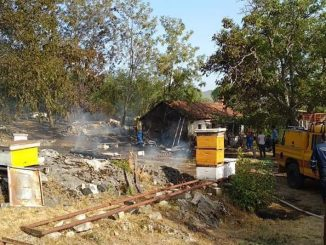 Leutar.net U Vrbnu požar u pčelinjaku, vatra zahvatila i kuću
