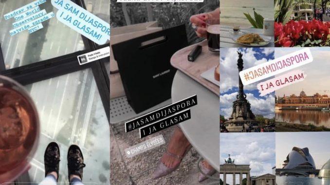"""Leutar.net Mladi ljudi porijeklom iz RS dijele fotografije sa porukom """"ja sam dijaspora i ja glasam"""""""