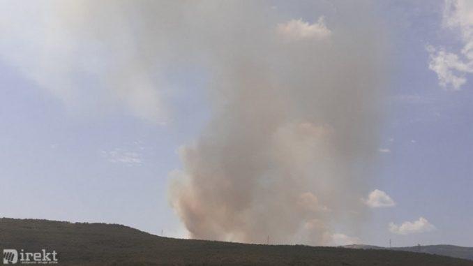 Leutar.net Ponovo aktivan požar na putu Trebinje - Bileća